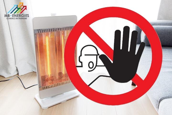 Il est interdit de chauffer de cette façon !
